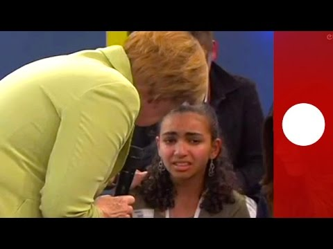 Thumbnail: Young asylum seeker sobs as Merkel explains why she cannot stay in Germany