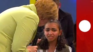 Young asylum seeker sobs as Merkel explains why she  cannot stay in Germany