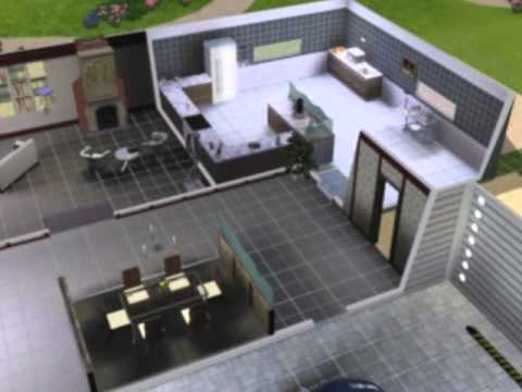 The Sims 3   Modern House Build (Dining Room Episode)