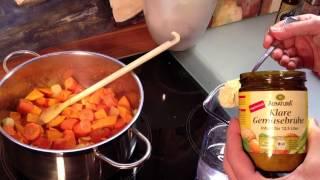 Tipps: Kürbissuppe mit Ingwer und Kokosmilch