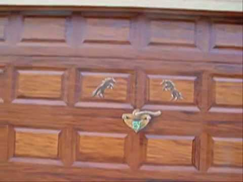 Faux Wood Grain On A Metal Garage Door By Mural By Aldo