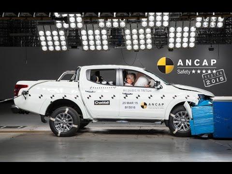 Mitsubishi Triton crash test - 5 star ANCAP safety rating - Mitsubishi Australia