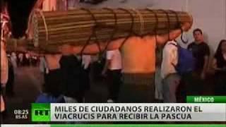 Los mexicanos celebraron el día de la crucifixión de Jesucristo