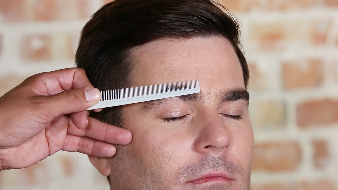 How To Trim Mens Eyebrows Youtube