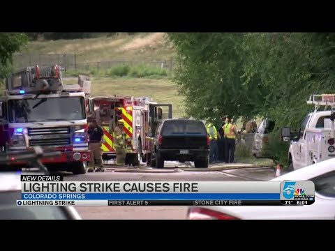 Crews Say House Fire In Southeast Colorado Springs Caused By Lightning