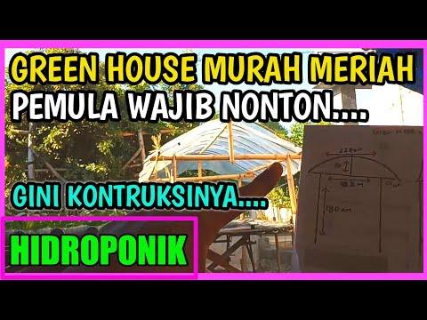Green House Hidroponik Full Bambu Murah Dan Simpel