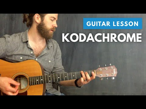 "How to play ""Kodachrome"" by Paul Simon (cover & guitar lesson)"