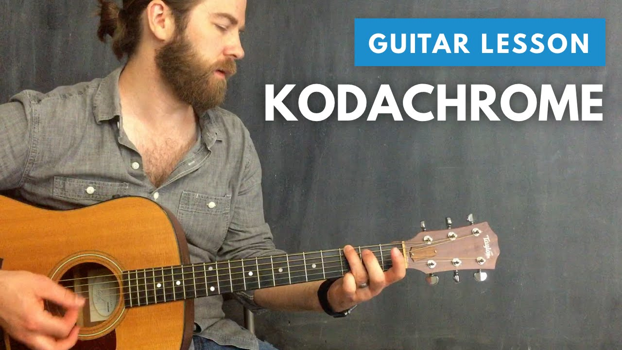 How To Play Kodachrome By Paul Simon Cover Guitar Lesson Youtube