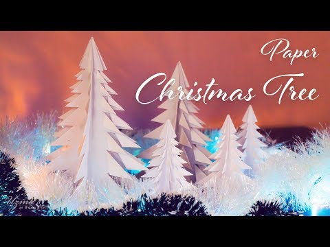 DIY Paper Christmas Tree | 3D Paper Tree | Origami