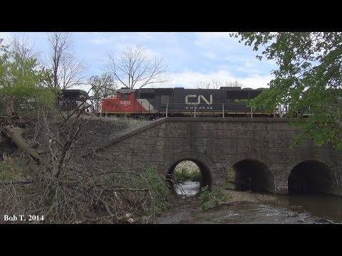 Six Norfolk Southern Trains at Trout Creek Park 5/04/14