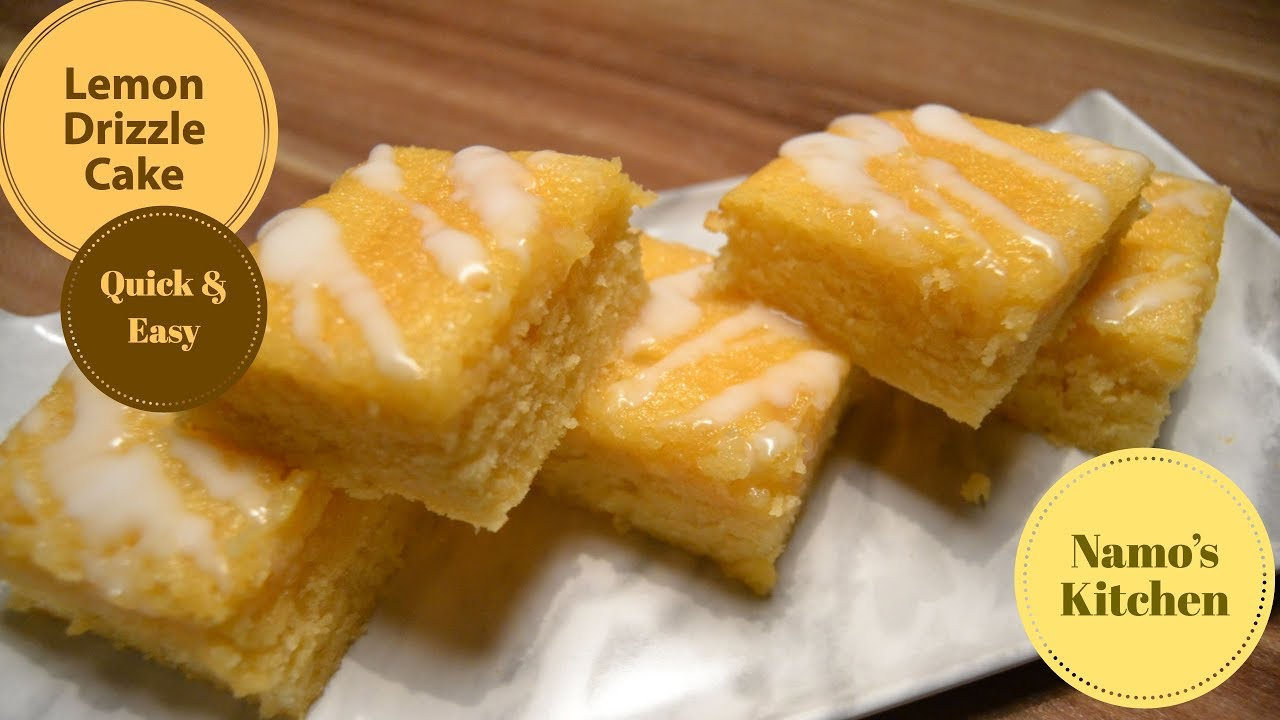 Lemon Drizzle Cake Recipe Quick And Easy Youtube