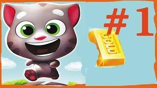 Мультик кот том в погоне за золотом Мультик игра видео для детей.  talking tom and angela
