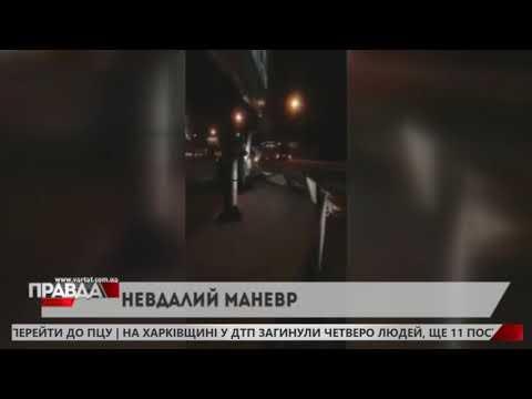 НТА - Незалежне телевізійне агентство: У Львові чоловік не впорався з керування, коли намагався вписатись у поворот на кільці