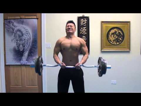 Bicep Curls - A basic requirement for all Zen Martial Artists - 110 lbs @ 145 lbs