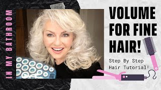 IN MY BATHROOM: HOW TO GET VOLUMIZED HAIR! STEP BY STEP FOR FINE THIN HAIR! | PRIDE IN PHOTOS BEAUTY