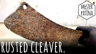 Antique Rusty Cleaver Restoration - Full Restoration | Mister Patina