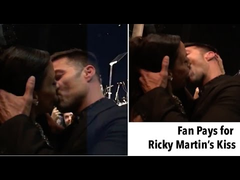 Pays $90,000 to Kiss Ricky Martin and He Presents his Boyfriend!