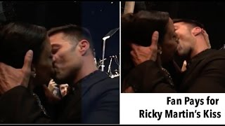 Fan Pays $90,000 to Kiss Ricky Martin and He Presents his Boyfriend!