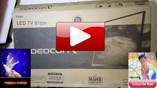Unboxing and review of Videocon 32 inch LED TV HINDI
