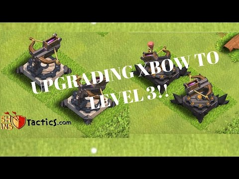 CLASH OF CLANS - UPGRADING MY XBOW TO LEVEL 3!!