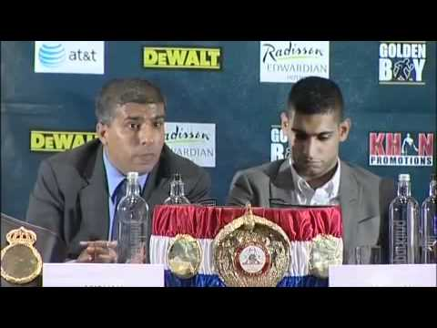 Amir Khan v Lamont Peterson news conference in London