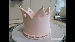 Корона из мастики для девочки!!!