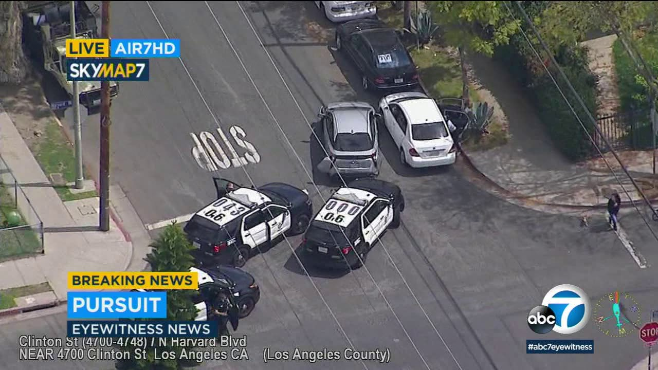 POLICE CHASE: Suspect sideswipes cars in wild pursuit through