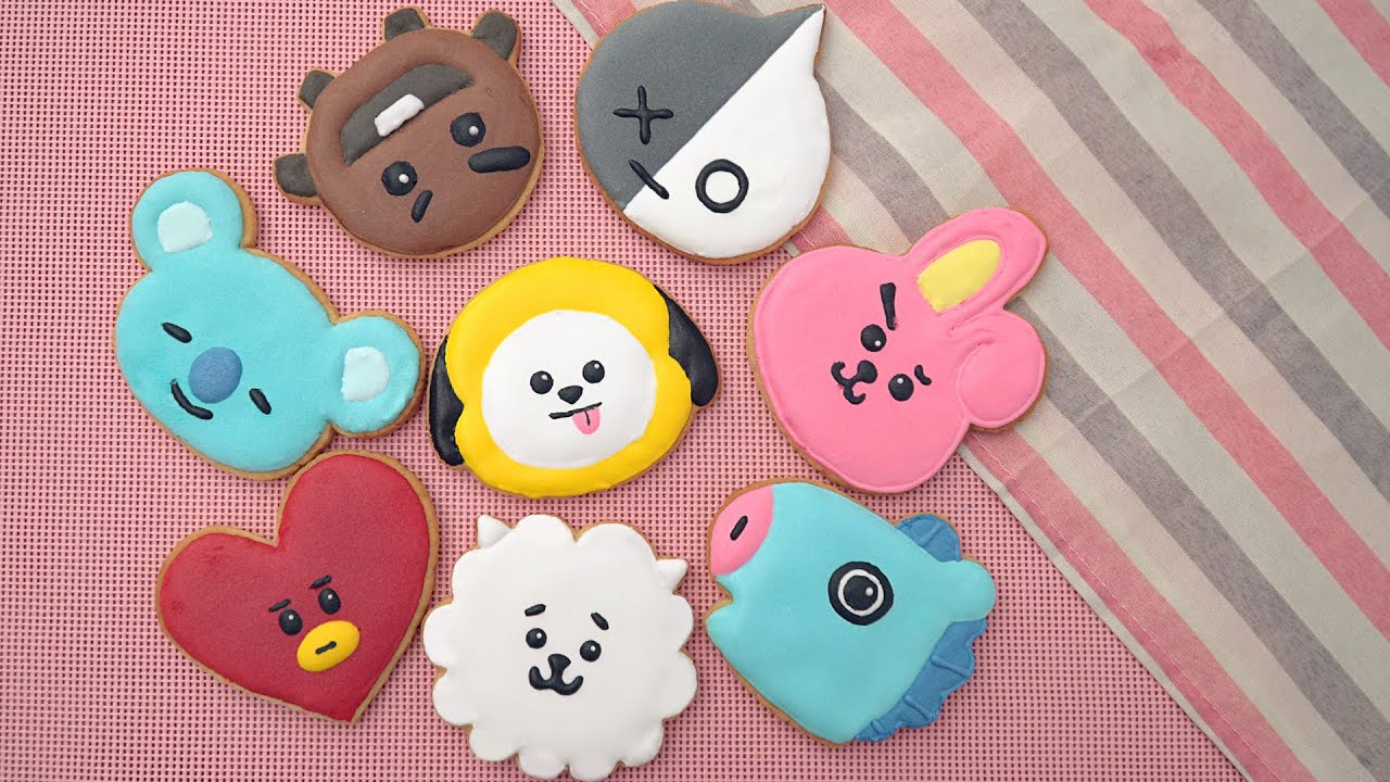 Royal Icing Cookies BTS BT21