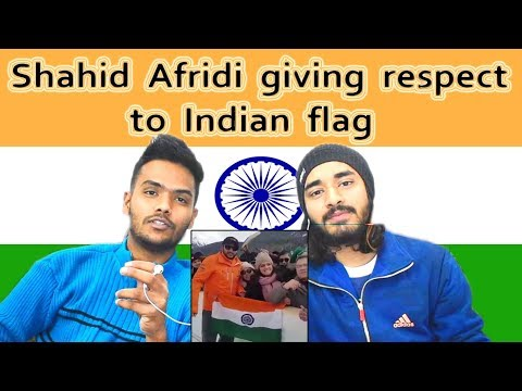 Indian reaction on Shahid Afridi Gave respect to Indian flag | Swaggy d