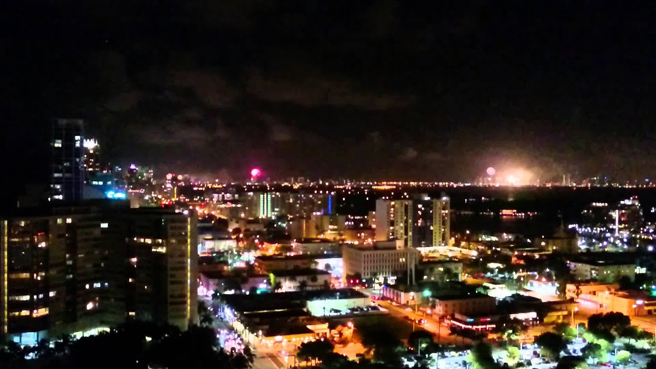 miami beach happy new year 2016 fireworks