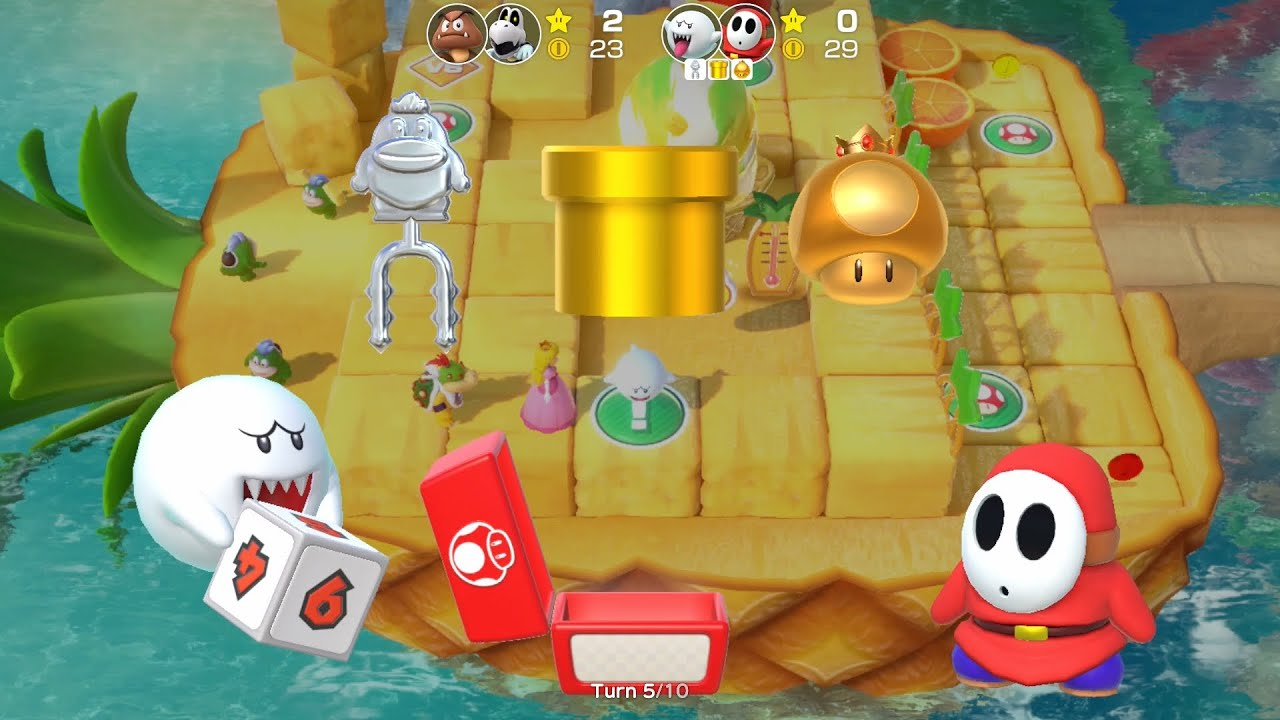 Super Mario Party Partner Party #931 Watermelon Walkabout Boo & Shy Guy vs Goomba & Dry Bones