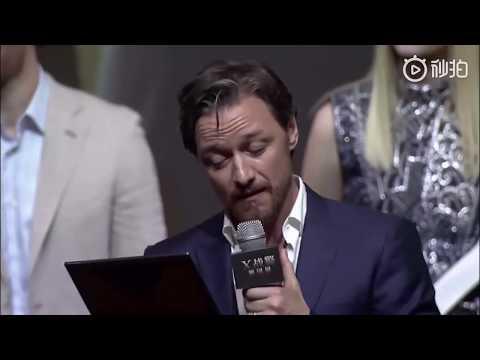 James McAvoy Reading Graduation Speech As Professor X | Dark Phoenix China Premiere