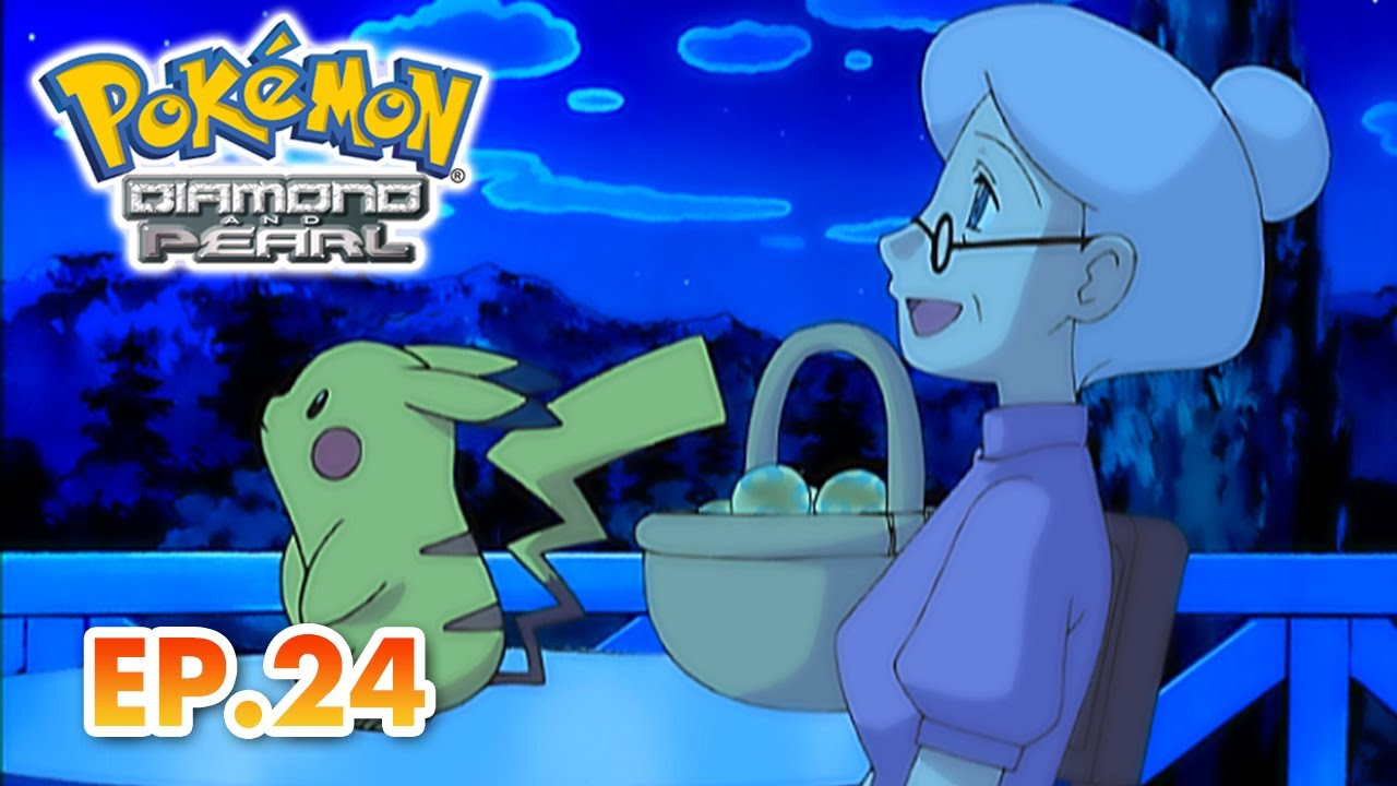 Pokémon Diamond and Pearl   EP24   Cooking Up A Sweet Story!   Pokémon Asia ENG