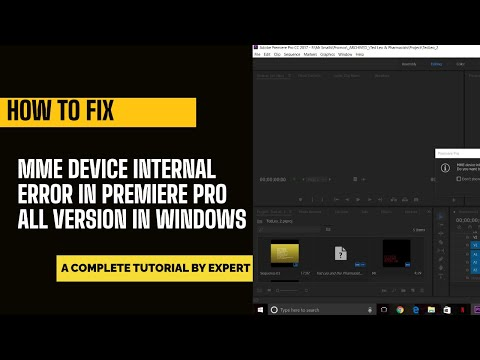 How to fix MME device internal error in Premiere pro cc | 3 Minutes Fix