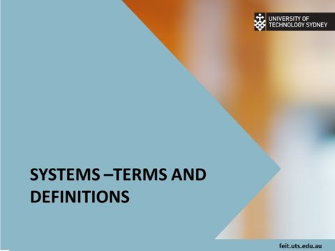 Systems theory   Concepts