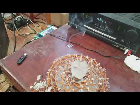 Ether energy running through a Quartz crystal.