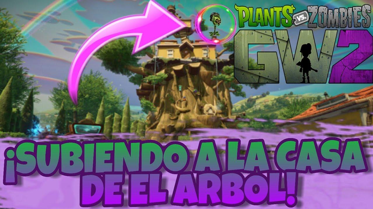 Plantas Vs Zombies Garden Warfare 2 Subiendo A La Casa Del Arbol De Crazy Dave Youtube