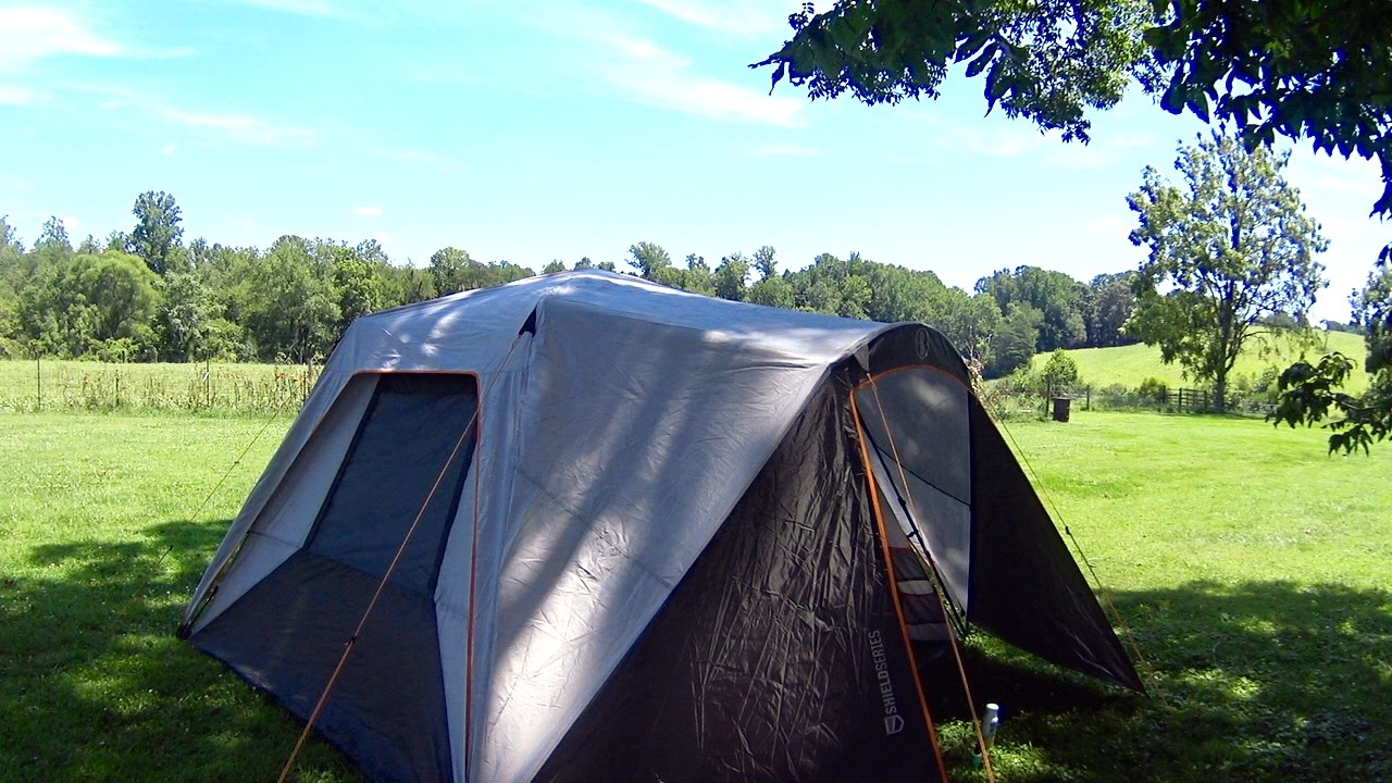 Bushnell 11x9 Instant Shield Series Cabin Tent NOT A REVIEW JUST SHOWING WHAT IT LOOKS LIKE - YouTube & Bushnell 11x9 Instant Shield Series Cabin Tent NOT A REVIEW JUST ...