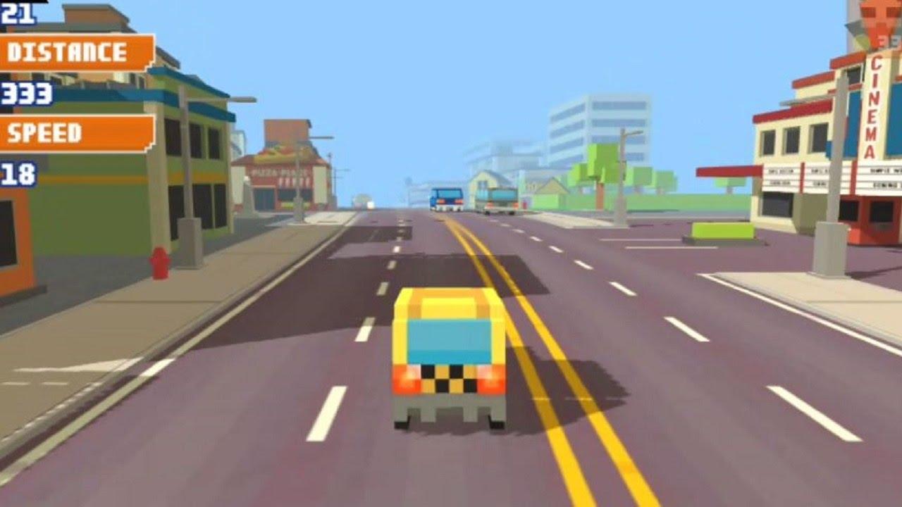 Pixel Road Taxi Depot Y8 Car Drive Youtube