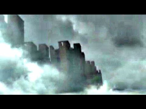GIANT FLOATING CITY SEEN OVER CHINA