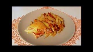 Запечёная горбуша с яблоками и сыром Рецепт очень нежной и сочной рыбки