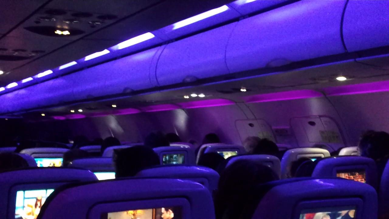 Virgin america flight 167 ewr to lax cabin mood lighting for Virgin america a321neo cabin