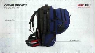 BlackWolf Cedar Breaks Travel Pack features
