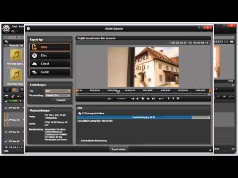 Übersicht Export in Pinnacle Studio 16 und 17 Video 76 von 114