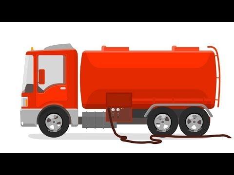 Doutora McWheelie. Caminhão tanque. Animação infantil .