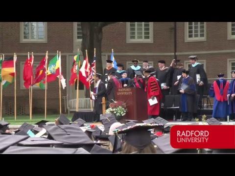 Radford University 2017 Spring Commencement