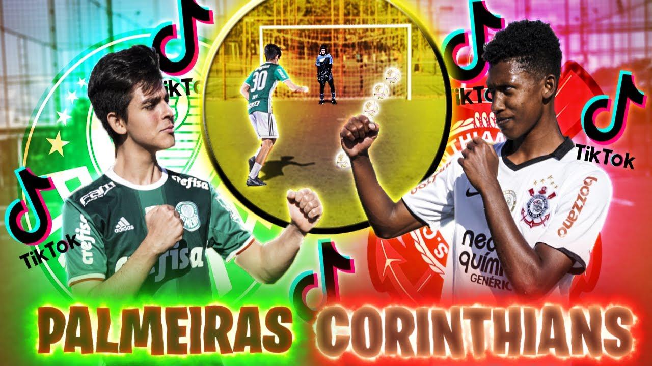 PALMEIRAS X CORINTHIANS COM TIKTOKERS DE FUTEBOL!! *JOÃO TOFA Vs MIKEON7*