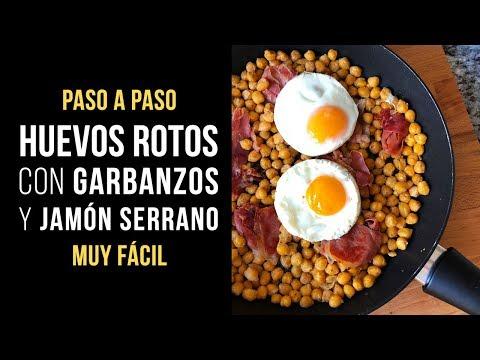 Huevos Rotos con Garbanzos y Jamón Serrano