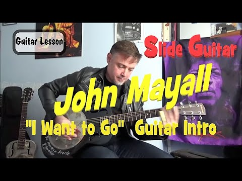 John Mayall  A sense Of Place  I Want to Go Guitar Intro