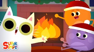 Super Simple Fireplace 😁 | Crackling Fireplace with Christmas Music | 3 Hours!